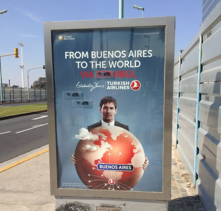 Lionel Messi has appeared in Turkish Airlines adverts endorsing Istanbul 2020 resize