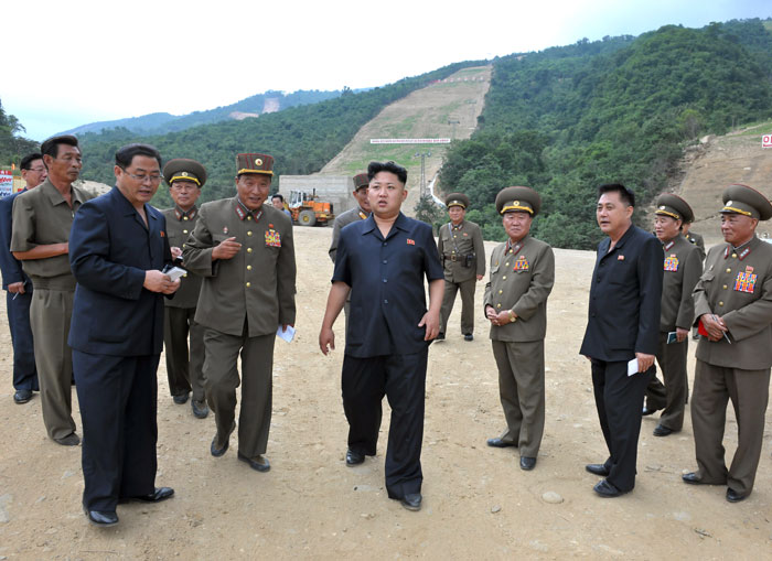 North Korean leader Kim Jong Un visited the construction site of the Masik Pass ski resort last month