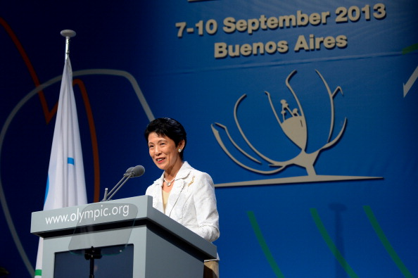 Japans Princess Takamado speaks during the final presentation before the International Olympic Committeemembers during an IOC session on September 7 2013 in Buenos Aires